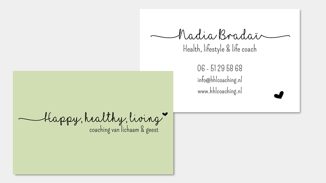 Logo en visitekaartje Nadia Vera Post