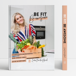 Kookboek cover Be fit, be awesome