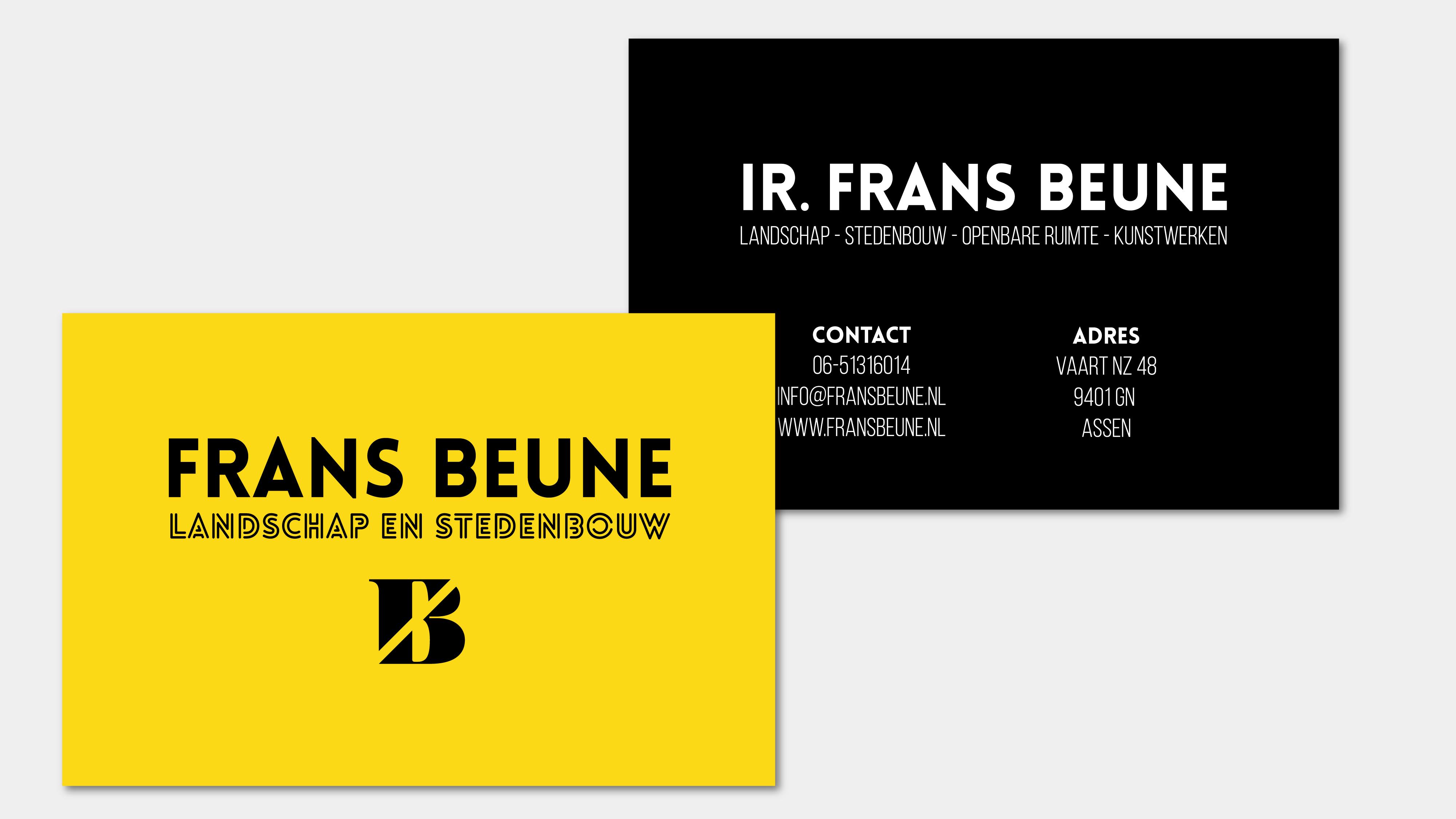 Visitekaartje Frans Beune Vera Post