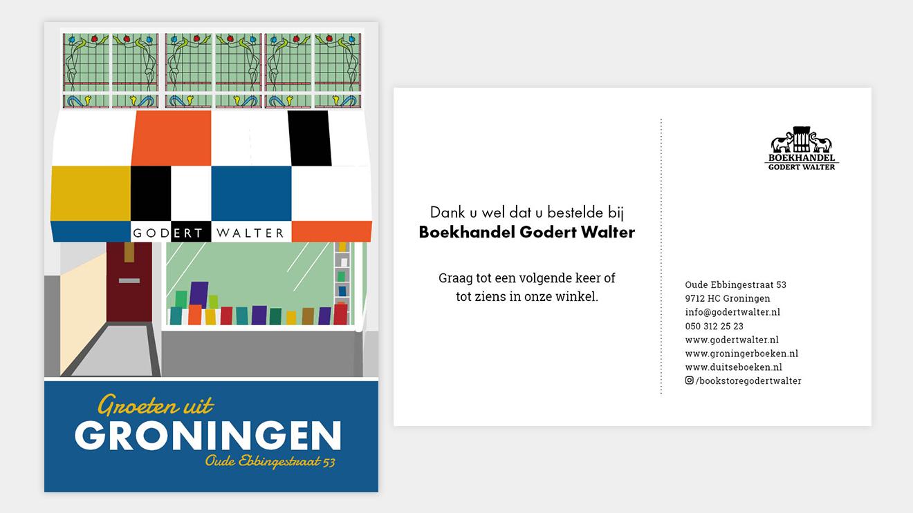Ansichtkaart Godert Walter Vera Post