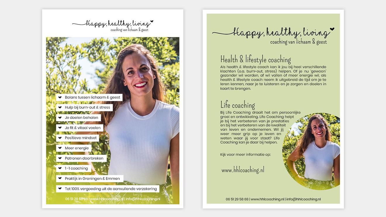 Flyer Happy, Healthy, Living Vera Post