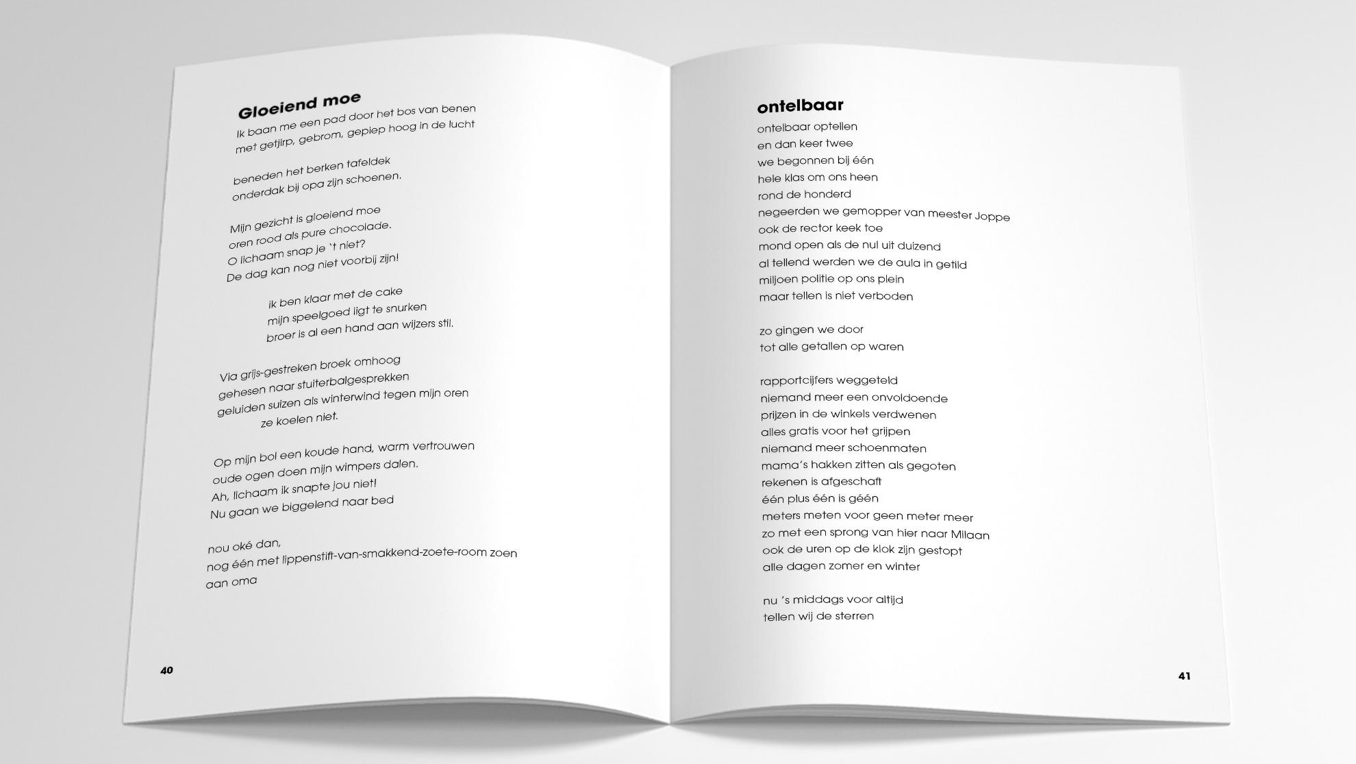 Binnenwerk Ongerijmd Poëziebundel