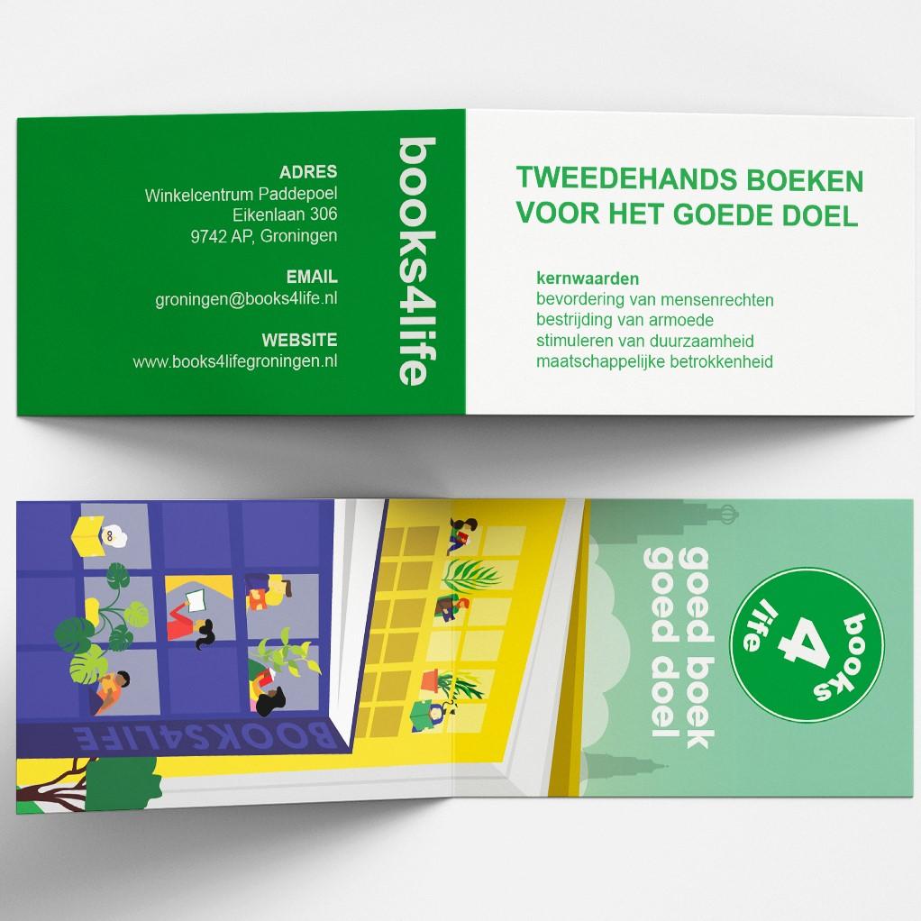 Books4life Ontwerp visitekaartje/boekenlegger