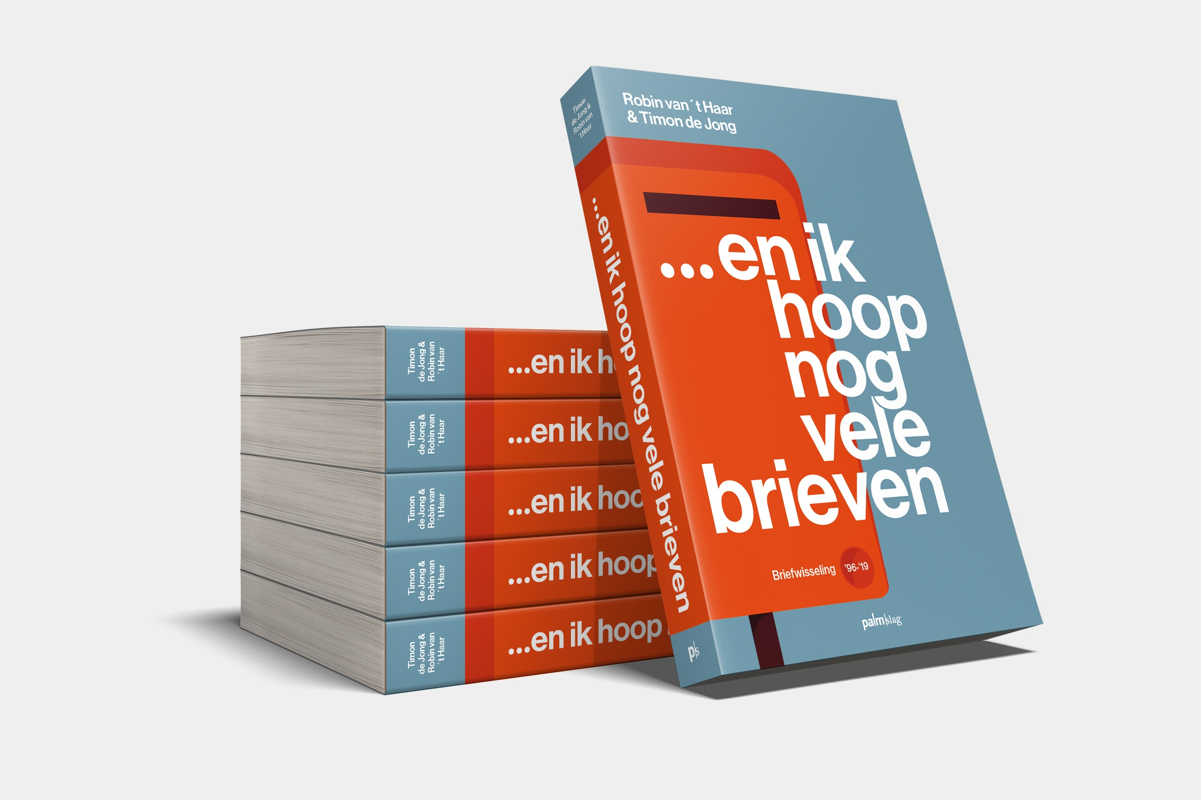 Boekverzorging Omslag 'En ik hoop nog vele brieven' - Timon de Jong - Uitgeverij Palmslag