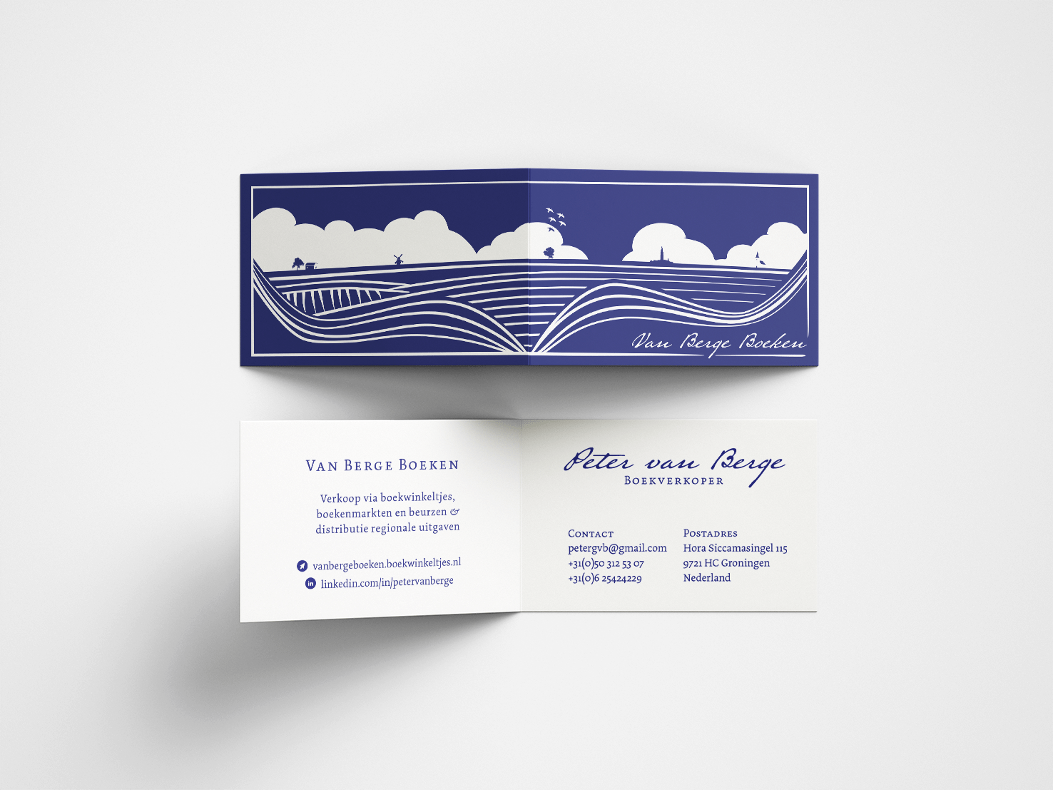 Boekenlegger en visitekaartje - Vera Post Vormgeving