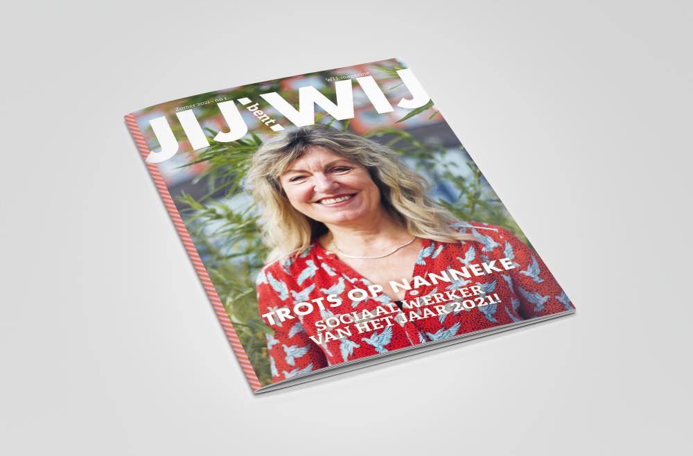 Magazine lay-out Personeelsblad WIJ Vera Post