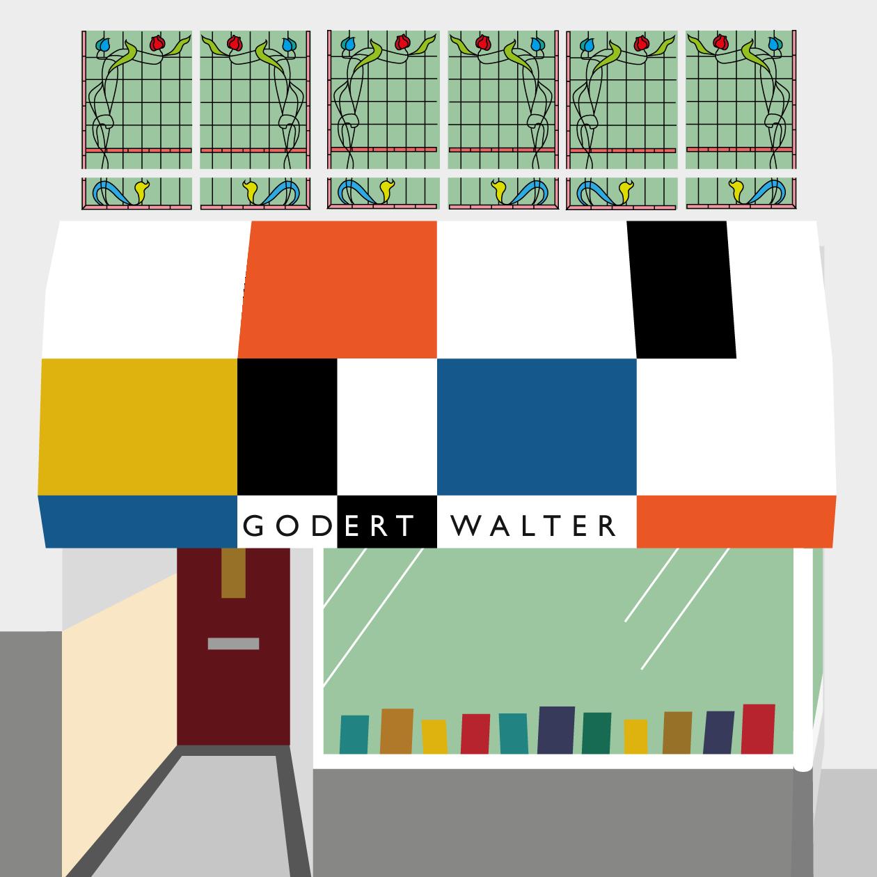 Illustratie Boekhandel Godert Walter