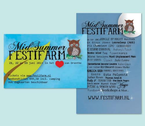 Flyer in opdracht van Midsummer Festifarm.