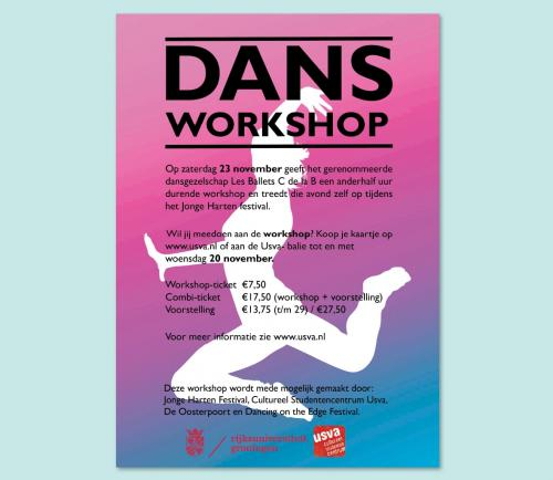 Poster/flyer dansworkshop USVA